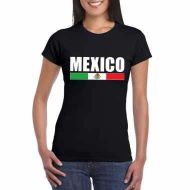 Zwart mexico supporter t shirt dames