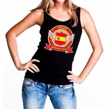 Zwart spain drinking team tanktop / mouwloos shirt dames