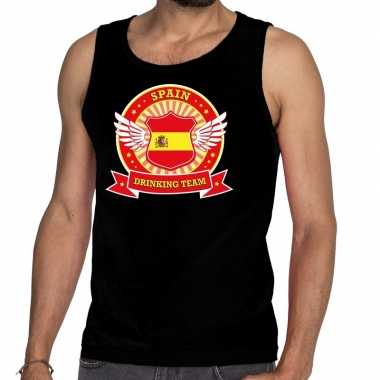 Zwart spain drinking team tanktop / mouwloos shirt heren