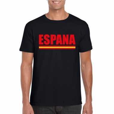 Zwart spanje supporter shirt heren