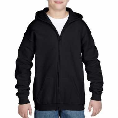 Zwart sweatshirt rits jongens