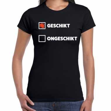 Zwart t shirt geschikt/ongeschikt dames