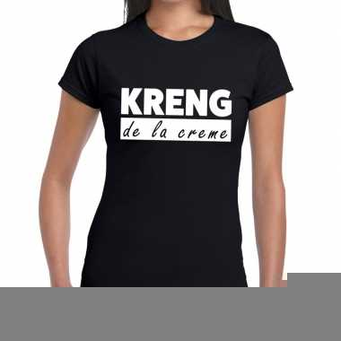 Zwart t shirt kreng la creme dames