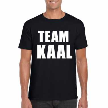 Zwart team kaal shirt heren