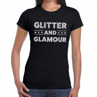 Zwarte glitter and glamour shirts dames