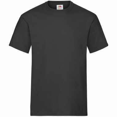 Zwarte t shirts ronde hals 195 gr heavy t heren