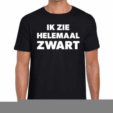Zwarte tekst shirts heren