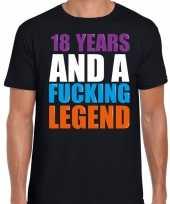 18 year legend 18 jaar legende cadeau t-shirt zwart heren