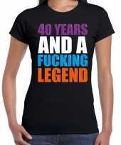 40 year legend 40 jaar legende cadeau t-shirt zwart dames