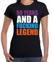 50 year legend 50 jaar legende cadeau t-shirt zwart dames