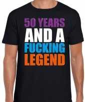 50 year legend 50 jaar legende cadeau t-shirt zwart heren