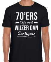 70ers zijn veel wijzer dan zestigers verjaardags t-shirt zwart heren