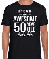 Awesome 50 year 50 jaar cadeau t-shirt zwart heren
