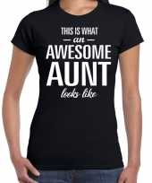 Awesome aunt tante cadeau t-shirt zwart dames