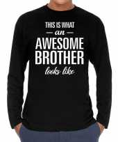 Awesome brother broer cadeau t-shirt long sleeves heren