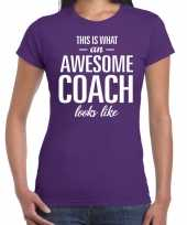 Awesome coach cadeau t-shirt paars dames
