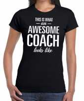 Awesome coach cadeau t-shirt zwart dames