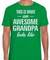 Awesome grandpa opa cadeau t-shirt groen heren vaderdag