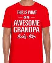 Awesome grandpa opa cadeau t-shirt rood heren vaderdag