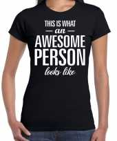 Awesome person persoon cadeau t-shirt zwart dames