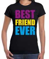 Best friend ever beste vriend ooit fun t-shirt zwart dames