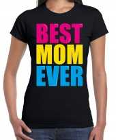 Best mom ever beste moeder ooit fun t-shirt zwart dames