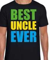 Best uncle ever beste oom ooit fun t-shirt zwart heren