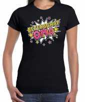 Beterschap oma cadeau shirt zwart dames