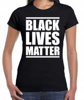 Black lives matter demonstratie protest t-shirt zwart dames