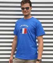 Blauw heren shirtje franse vlag 10041411