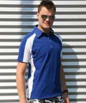 Blauwe polo shirts heren lemon soda