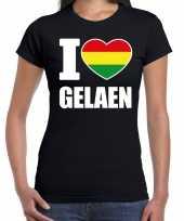 Carnaval i love gelaen t-shirt zwart dames