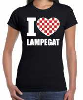 Carnaval i love lampegat t-shirt zwart dames