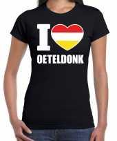 Carnaval i love oeteldonk t-shirt zwart dames