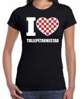 Carnaval i love tullepetaonestad t-shirt zwart dames