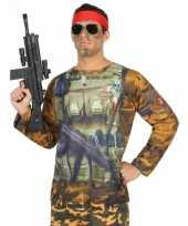 Carnavalskleding soldaten shirt