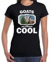 Dieren geit t-shirt zwart dames goats are cool shirt