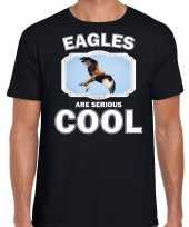 Dieren rode wouw roofvogel t-shirt zwart heren birds are cool shirt