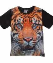 Dieren shirts fotoprint tijger kinderen