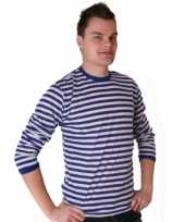Dorus shirt blauw wit heren