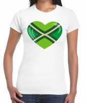 Festival shirt i love zwarte cross wit dames