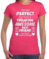 Freaking awesome best friend beste vriend cadeau t-shirt roze