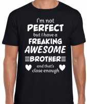 Freaking awesome brother broer cadeau t-shirt zwart heren