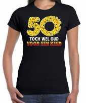 Funny emoticon 50 toch wel oud een kind cadeau shirt zwart