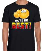 Funny emoticon t-shirt you are the best zwart heren