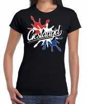 Geslaagd spetter cadeau t-shirt geslaagden zwart dames