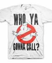 Ghostbusters kleding heren shirt wit