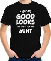 Good looks from my aunt cadeau t-shirt zwart kinderen