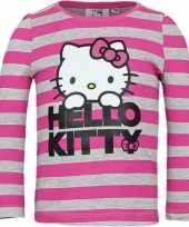 Grijs roze shirt hello kitty