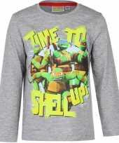 Grijze ninja turtles shirt kids
